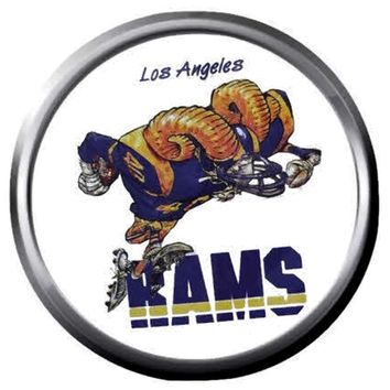 NFL Superbowl LA Mean Rams Nation Football Fan Logo 18MM-20MM Snap Jewelry Charm New Item