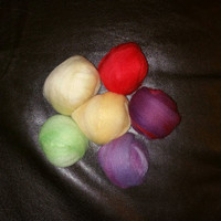 Dyed Wool Roving - Wool Top for Needle Felting - Hand Dyed Wool Top - 2.5oz of Wool Top - 6 colors of Wool Roving - MultiColor Pack Wool Top