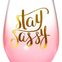 Stay Sassy Wine Glass Set by Slant
