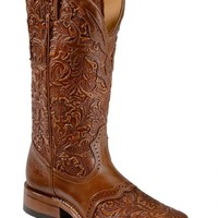 Boulet Hand Tooled Belmont Cowgirl Boots - Square Toe - Sheplers