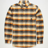 Lira Premiere Mens Flannel Shirt Yellow  In Sizes