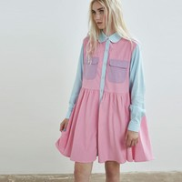 Lazy Oaf Pastel Panel Cord Dress