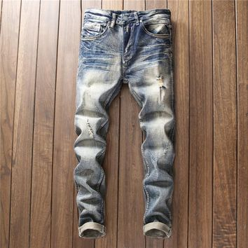Stylish Slim Pants Fashion Jeans [1563338899549]