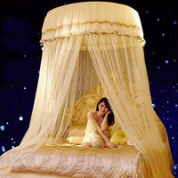 Luxury Romantic Hung Dome Mosquito Net Princess Students Insect Bed Canopy Netting Lace Round Mosquito Nets Curtain for Bedding