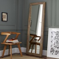 Parsons Floor Mirror - Natural Solid Wood