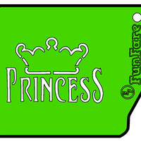 FunFare stencil, Princess crown, food decorating stencils