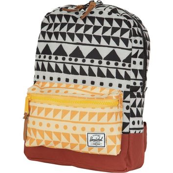 Herschel Supply Settlement Backpack - Kids' - 519cu in Chevron Black/Chevron Butterscotch/Rust, One