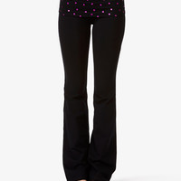 Flared Heart Print Lounge Pants
