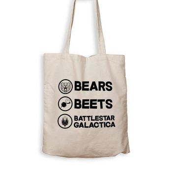 ICIK Bears. Beets. Battlestar Galactica. - Tote Bag