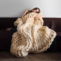 DCCK1IN spring bedding sofa wool knitting blanket gift 2