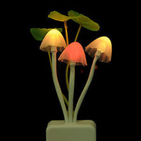 7Color Changing LED Mushroom Night Light Lamp for Wedding Party Bedroom Decor