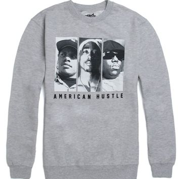 Original Flavor American Hustle Crew Fleece - Mens Hoodie - Grey