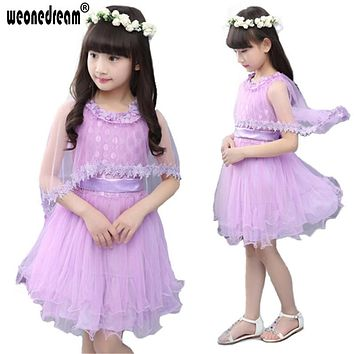 WEONEDREAM New Children Girl Sweetheart Lace Communion Party Prom Princess Pageant Bridesmaid Wedding Bow Flower Girl Dress