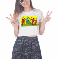 Keith Haring Pop Art For Womens Crop Shirt ***