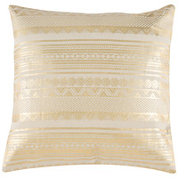 Adele 20x20 Pillow, Gold, Decorative Pillows