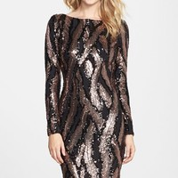 Women's Dress the Population 'Lola' Graphic Sequin Body-Con Dress