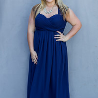 WEB EXCLUSIVE: Love At Last Plus Size Dress in Navy