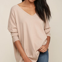 Ticket to Cozy Blush Pink Oversized Sweater