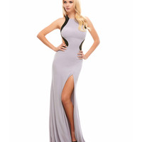 Platinum Fitted Open Back Gown