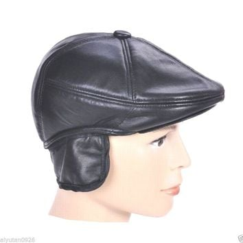 New High Quality Men's / Women's Leather baseball cap /Golf Hat