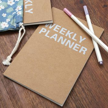 New Weekly Planner Notebook School Tools Stationery Planner 32 Inner Pages Cute Day Planner Paper Quality