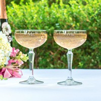 Cathy's Concepts Mr. & Mrs. 2-pc. Coupe Champagne Glass Set