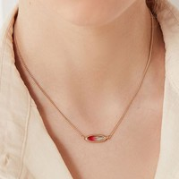 Ombre Sky Stone Pendant Necklace   Urban Outfitters