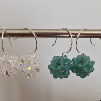 Swarovski Crystal Dangle Ball Earrings