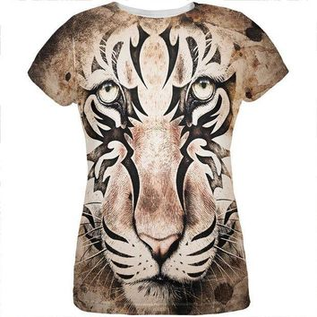 CREYCY8 Tiger Eye Ghost And The Darkness All Over Womens T Shirt