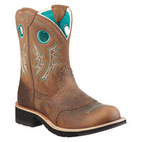 10010219 Women's Cowgirl Western BRN Ariat Boots from Bootbay, Internet's Best Selection of Work, Outdoor, Western Boots and Shoes.