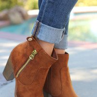 Get A Kick Out Of It Booties - Tan