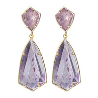 Kendra Scott Carey Earrings Gold/Amethyst - Zappos.com Free Shipping BOTH Ways