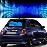 Sound / Music Activated Equalizer Car Sticker (500mm x 160mm)