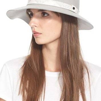 43d9676ee1d13 Women s rag   bone Floppy Brim Wool Fedora - Grey