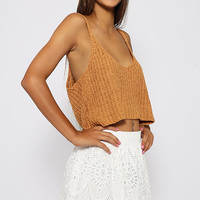 Kiara Crop - Brown