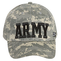 United States Army Block Letters Digital Camo Adjustable Cap