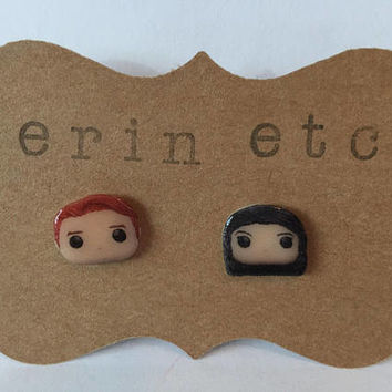 Handmade Plastic Fandom Earrings - Riverdale - Archie & Veronica