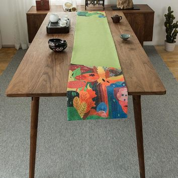 Colorful Forest Table Runner