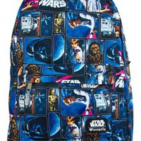 """""""STAR WARS VINTAGE COMIC PRINT"""" BACKPACK BY LOUNGEFLY (MULTI)"""