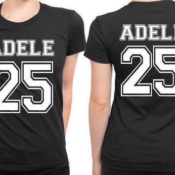 Adele 25 Old School Title33 2 Sided Womens T Shirt