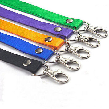 Neck Strap Lanyard Safety Breakaway For ID Name Badge Holder Keys Metal ClipHUUS