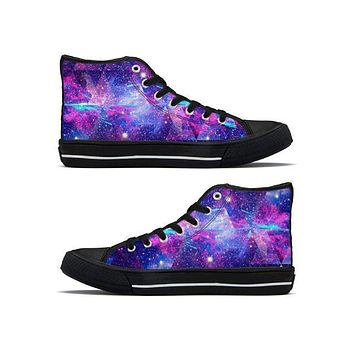 Galactic Trip - High Top Canvas Shoes
