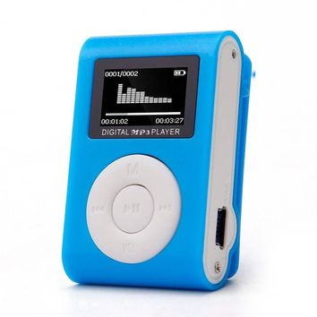 Del Mini MP3 Player USB Clip MP3 Player LCD Screen Support 32GB Micro SD TF CardBuild-in Li-ion rechargeable battery Sep 28