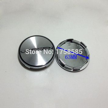Car-Styling 4Pcs 60mm 68mm 45mm 50mm 56mm 65mm 3D Aluminum VOSSEN Badge Emblem Stickers Decal Wheel Center Hub Caps logo cover