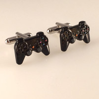 Game Controller Cufflinks, Play Station Cufflinks, Video Game Cufflinks, Men's Cuff Links, Wedding Cuff Links, Father's Day, Graduation