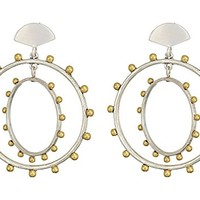 Lucky Brand Beaded Hoop Earrings