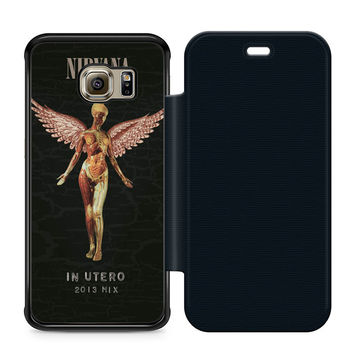 Nirvana In Utero Leather Wallet Flip Case Samsung Galaxy S6 Edge