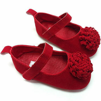 Festival Flower Baby Shoes 0-1 Years Newly Born Infant Baby Girls First Walkers Kid Shoes