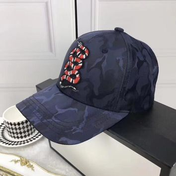 GUCCI Snake Embroidery Baseball Hat