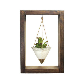 Air Planter, Wall Planter, Concrete Planter, Succulent Planter, Modern Planter, Air Plant Holder, Wood Planter, Gold Planter, Shadow Box